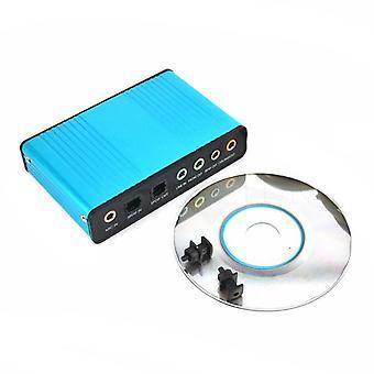 Usb 6 Channel 5.1 / 7.1 Surround External Sound Card Pc Laptop Desktop Tablet