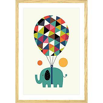 Poster kind heteluchtballon jumbo