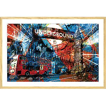 Affiche illustration graffiti london