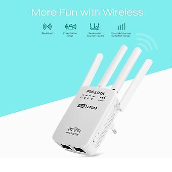 DZK AC1200 WIFI repeater/router/access point AP vezeték nélküli hatótávolság-hosszabbító Wi Fi jelerősítő