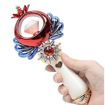 Bílá rozsvícená hudba princezna magická w dívka toy karikatura blikající vedl w zářící toy dt4924