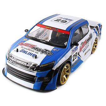 1:10 70Km/h 2.4 g आर सी कार 4wd डबल बैटरी हाई पावर एलईडी हेडलाइट रेसिंग ट्रक बहाव रेसिंग कार