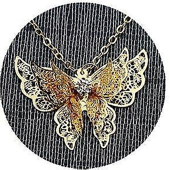 Metal Feather Bookmark,with 3d Butterfly And Glass Beads Dry Flower Pendant(Picture2)