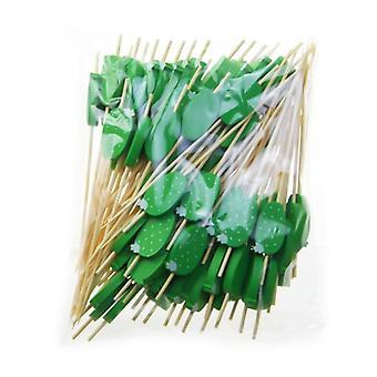 Disposable Bamboo Food Fruit Cocktail Handmade Toothpicks