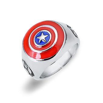 Captain America Anime Ring Superhero Alloy Finger Ring For Children