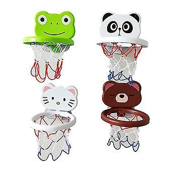 Juguetes de agua, Baño infantil, Bañera, Mini aro de baloncesto de dibujos animados, interior y exterior