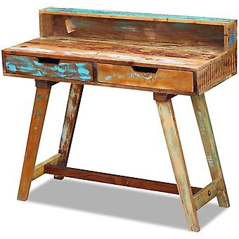 vidaXL Skrivebord genvundet træ