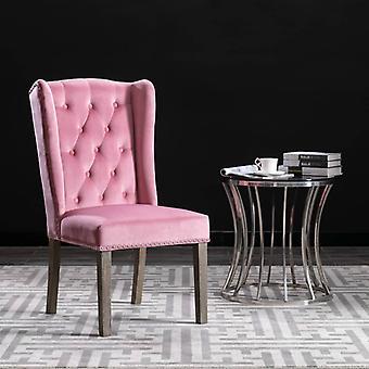 vidaXL تناول الطعام كرسي الوردي المخملية