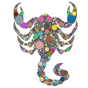 Scorpion Jigsaw Puzzle Piece Spel voor kinderen en volwassenen (A4)