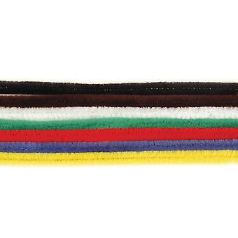 10 Assorted Colour 9mm Chunky Extra Long 50cm Pipe Cleaners | Chenille Stems
