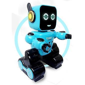 Älykäs induktio eletunnistimen lahjalla lapsille Lasten koulutus lelu  RC-robotti (sininen)