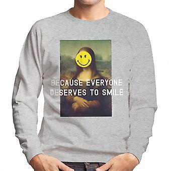 Smiley World Because Everyone Deserves To Smile Men's Sweatshirt