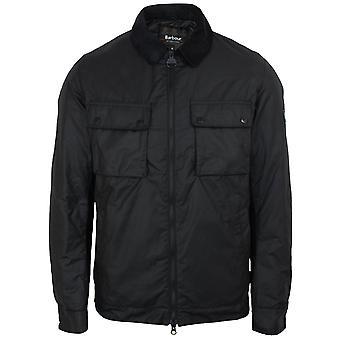 Barbour international men's black baffins wax jacket