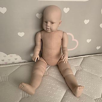 Wedergeboorte pop 28inch herboren pop kit peggy enorme baby peuter met rechte been staande pop verse kleur niet-gemonteerd kit schattig cadeau