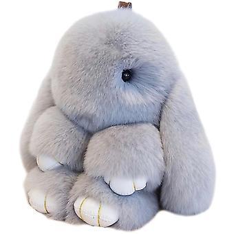 Bunny Rabbit Keychain Pom Toy Doll 15cm Pendant