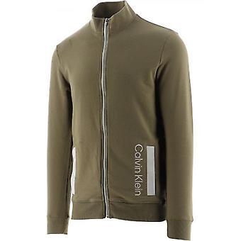 Calvin Klein Green Galvanisé Full Zip Lounge Sweatshirt