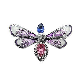 Bross pin pillangó lepke fűző festett gyémánt intarzia ötvözet női bross