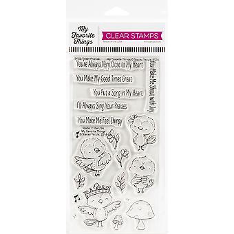 "My Favorite Things Stacey Yacula Stamps 4""X8"" - Tweet Friends"