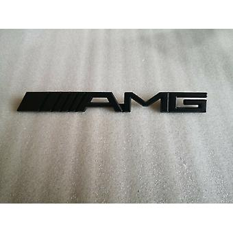 Mercedes AMG Black Front Matte Grille Badge Emblem A C E Class CLA CLS A45 E63 C45