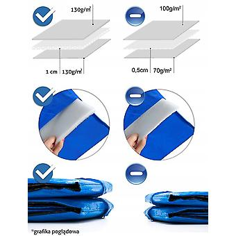 Trampoline rand 252 cm blauw - 8 ft