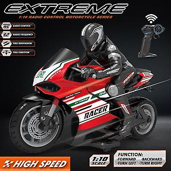 Remote Control Motorcycle 25KM/H 4 Channels Racing Electric Off Road Vehicle RC Car Toys(Red)
