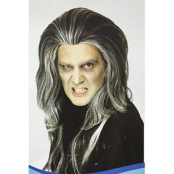 Gothic vampire wig halloween costume fancy dress long hair party mens scary new