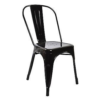 Chair DKD Home Decor Black Metal (53 x 45 x 85 cm)