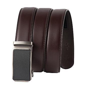 Kožený ráčtový pás pro muže nastavitelný velikost