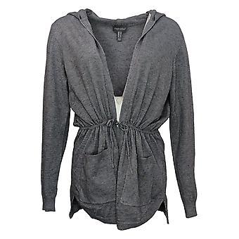 ModernSoul Women's Sweater Spacedye Tie-Front Cardigan Gray 681524