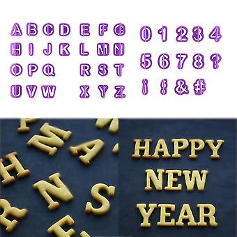 40pcs Alphabet Number Letter Fondant Cake Cookie Cutter Pan Mold Biscuit
