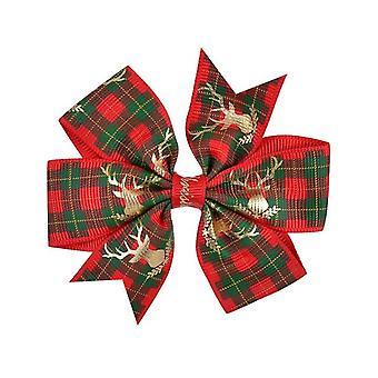 1 Pc Christmas Hair Bow Clips Hår Swallowtail Bows Baby Girl Kids Hår Clips Boutique Bow Clips for kvinder hår tilbehør