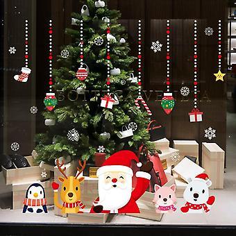 Regalo di Natale Glas Adesivi Centro Commerciale Finestra Porta Decal Post