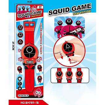 Ajándék dobozos tintahal játék watch Cartoon Electronic Watch Pop-up Watch Toy Watch Gyermekóra