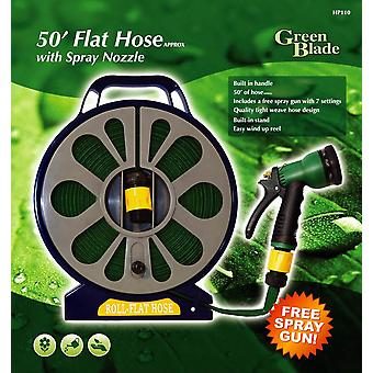 50ft Flat Hose with Spray Nozzle and Free Spray Gun