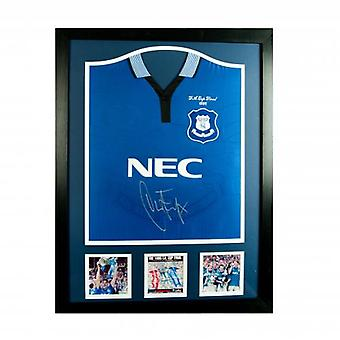 Everton Ferguson ondertekend Shirt (geframede)