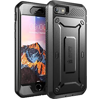iPhone 7 Case,SUPCASE,Unicorn Beetle PRO Series,Full-body, Holster Case with Built-in Screen Protector-Black/Black