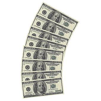 المناديل $10pcs $100 مظهر المزيفة الديكور الطرف لعب المال