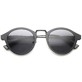 Retro plat metalen Dapper P-3 gehoornde Rim zonnebril