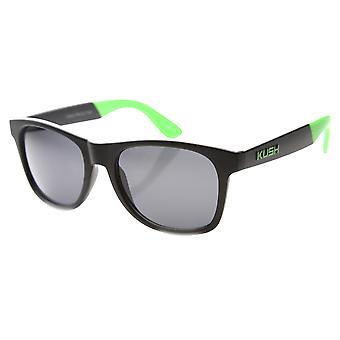 Unisex Retro Horned Rimmed Two Tone Arms Sunglasses