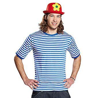 Ringelshirt kurzarm garngefärbt blau/weiss Streifenshirt Kostüm Unisex