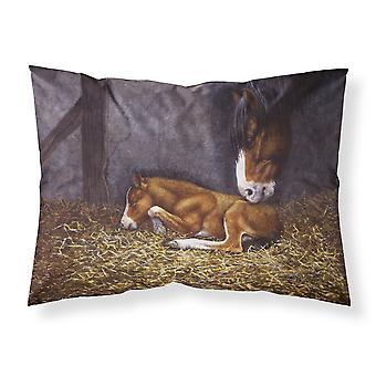 Caballo y su potro tela funda de almohada estándar