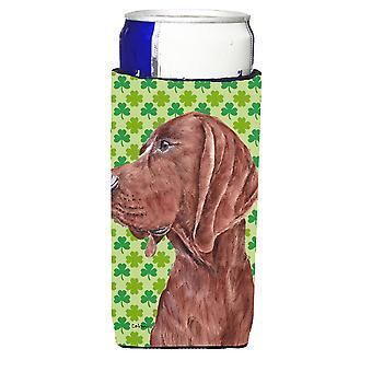 Redbone Coonhound Lucky Shamrock St. Patrick's Day Ultra Beverage Insulators for