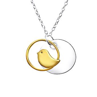 Bird - 925 Sterling Silver Plain Necklaces - W22721X