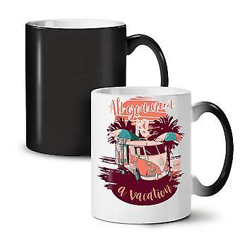 Vacation Travel Holiday NEW Black Colour Changing Tea Coffee Ceramic Mug 11 oz | Wellcoda