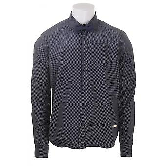 Scotch & Soda Mens Ls Spotted Shirt With Bowtie
