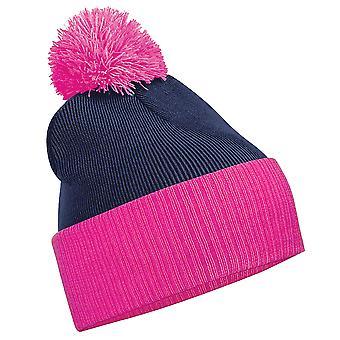 Beechfield дети Snowstar дуэт двухцветная Зимняя шапка
