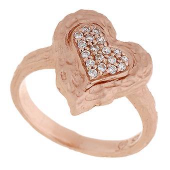 Orphelia srebro 925 Ring Rose serce cyrkonu ZR-7082/1