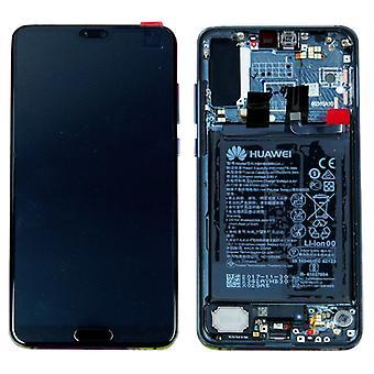 Huawei visar LCD enhet + ram för P20 Pro Service Pack 02351WTP Midnight Blue / blå ny