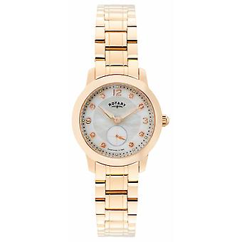 Roterande Womens Cambridge, Rose guld, Pearl, Crystal LB02702/41 klocka