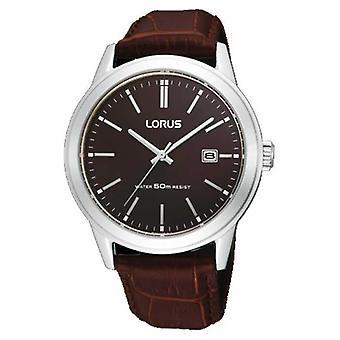 Lorus Mens Brown Leather Strap RH925BX9 Watch